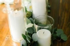 Simple Candles Centerpiece