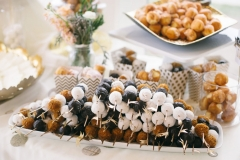 Fresh Donut Holes on Bamboo Skewers