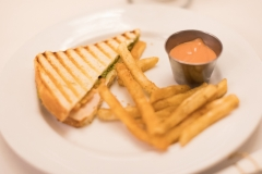 Paninni, Fries and Dipping Sauce Small Plate