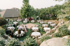 Outdoor Round Tables Setting